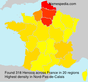 Surname Henocq in France