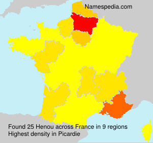 Surname Henou in France