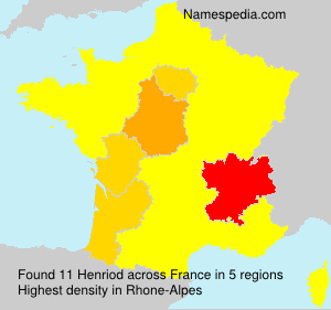 Surname Henriod in France