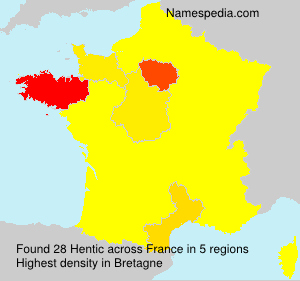 Surname Hentic in France