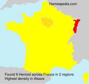 Surname Hentzel in France