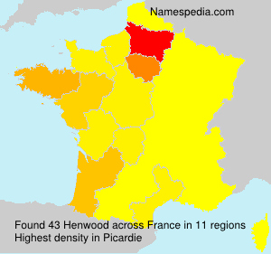 Surname Henwood in France