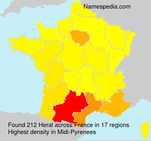 Surname Heral in France