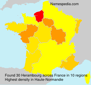 Surname Herambourg in France