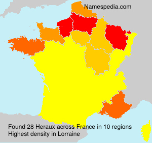 Surname Heraux in France