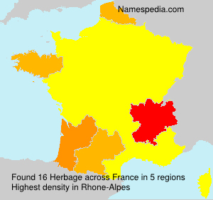 Surname Herbage in France