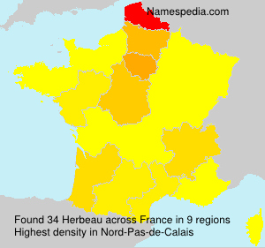 Surname Herbeau in France