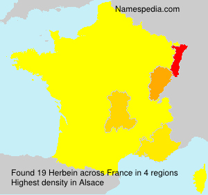 Surname Herbein in France