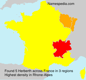 Surname Herberth in France