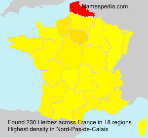 Surname Herbez in France