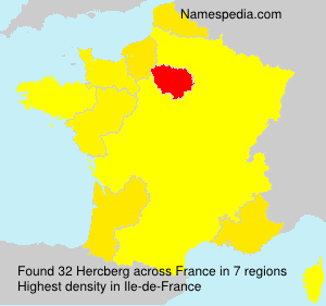 Surname Hercberg in France