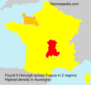 Surname Hercegfi in France