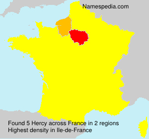 Surname Hercy in France