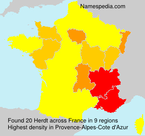 Surname Herdt in France