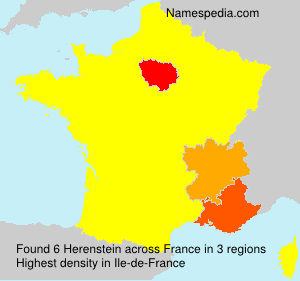 Surname Herenstein in France
