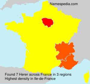 Surname Herer in France