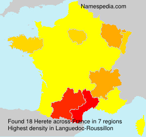 Surname Herete in France