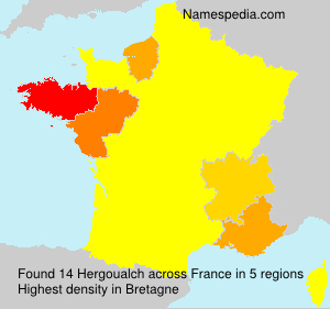 Surname Hergoualch in France