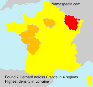 Surname Herhard in France