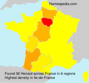 Surname Heriard in France