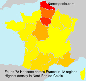 Surname Hericotte in France