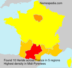 Surname Heride in France