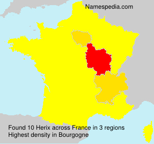 Surname Herix in France