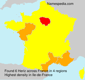 Surname Heriz in France