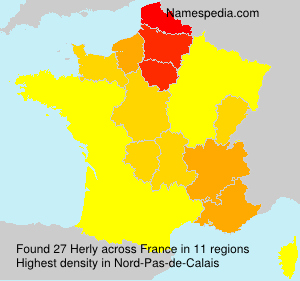 Surname Herly in France
