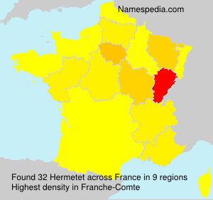 Surname Hermetet in France