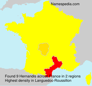 Surname Hernandis in France