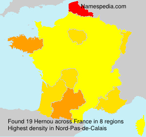 Surname Hernou in France