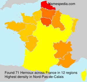 Surname Hernoux in France