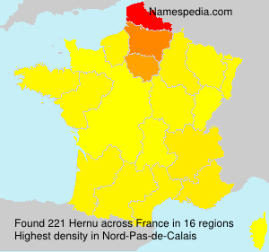 Surname Hernu in France