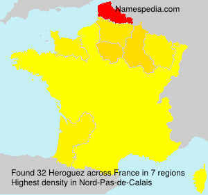Surname Heroguez in France