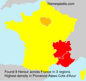Surname Herour in France