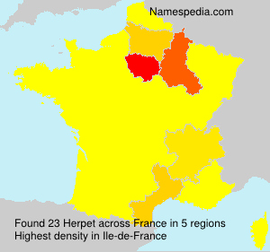 Surname Herpet in France