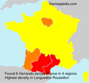 Surname Herrando in France