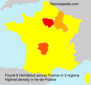 Surname Herrebout in France