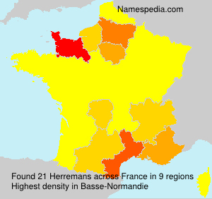 Surname Herremans in France