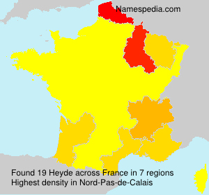 Surname Heyde in France