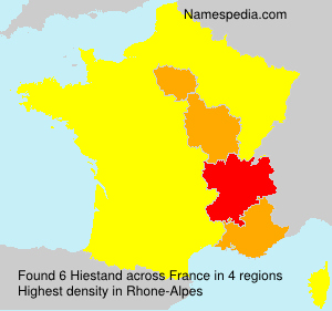 Surname Hiestand in France