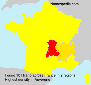 Surname Hijano in France