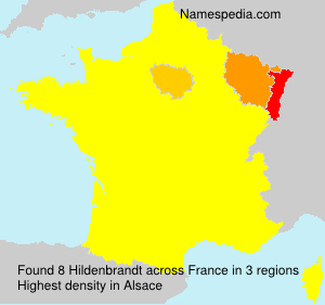 Surname Hildenbrandt in France