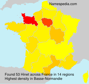 Surname Hinet in France