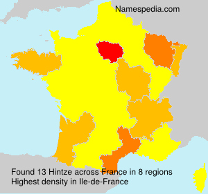 Surname Hintze in France