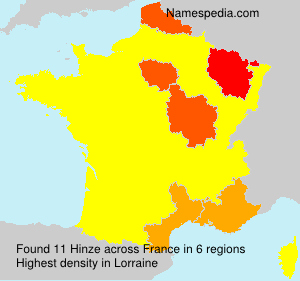 Surname Hinze in France