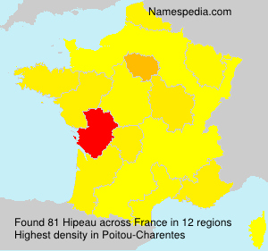 Surname Hipeau in France