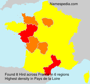 Surname Hird in France