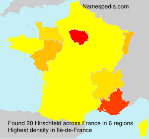 Surname Hirschfeld in France
